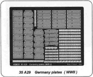 AB35A29 German Number Plates(WWII)